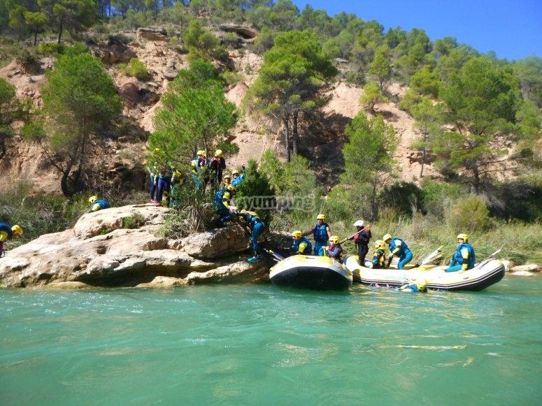 Rafting en el campamento Villagordo del Cabriel