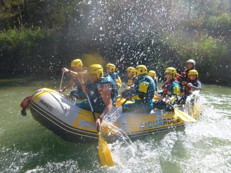 Descenso en rafting Villagordo del Cabriel