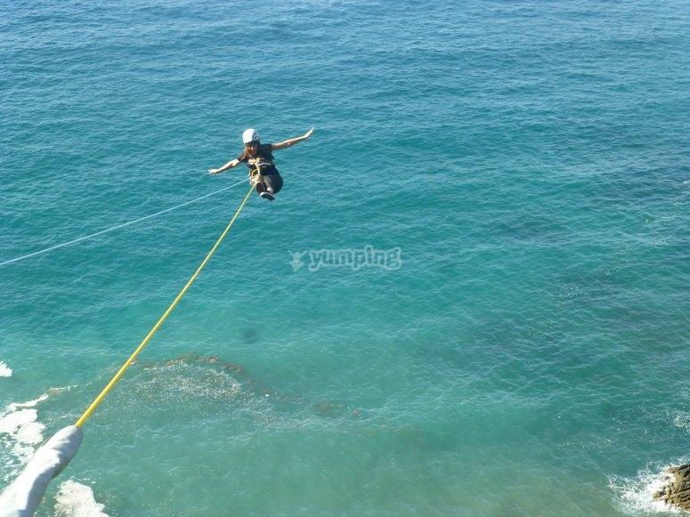 Disfrutando del salto