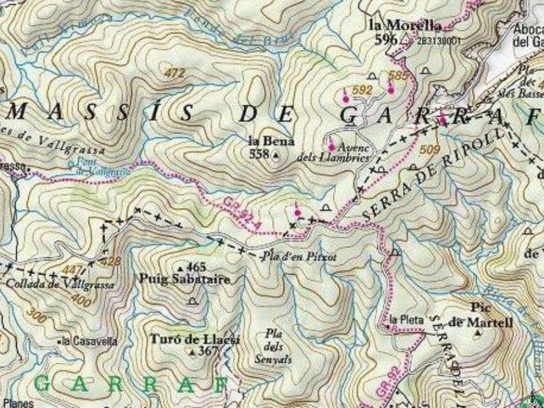 Mappa dell'area