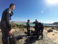 在Costa de la Luz的潜水员PADI课程