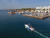 Imbarco nel porto di LAmetlla