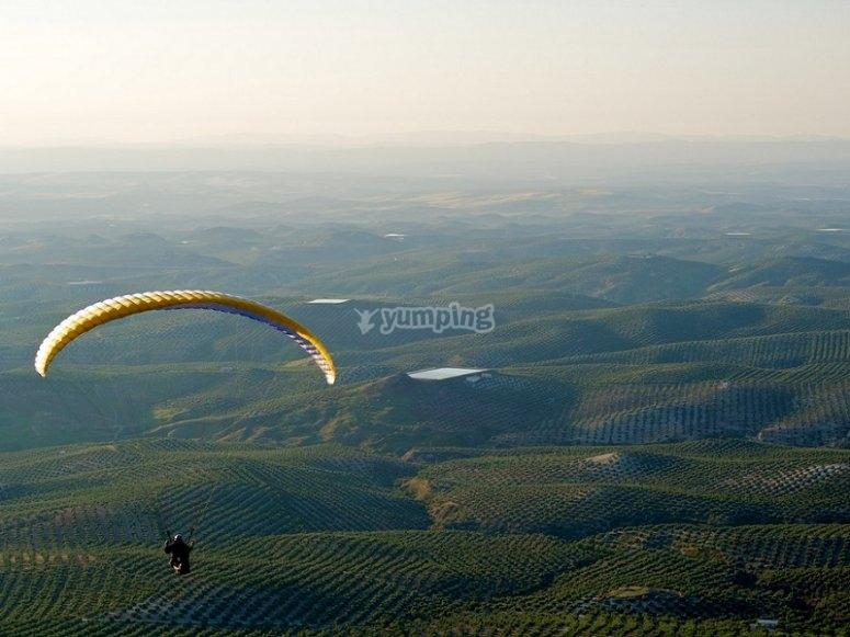 Volando en nuestro parapente