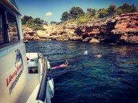 Boat trip with bath included Tarragona