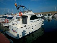Boat ready to start a trip on the Costa Dorada