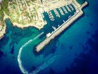 Aerial view of Port Calafat
