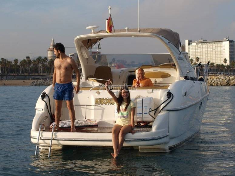 On board of the luxury yatch