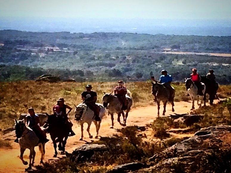 A caballo por La Vera