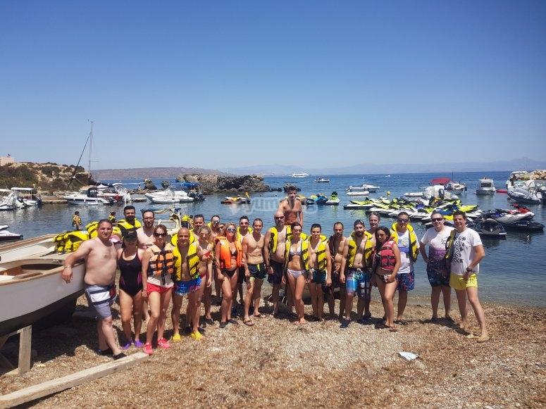 Team building moto de agua Benidorm
