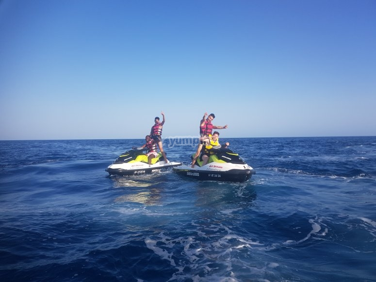 Ruta para parejas moto de agua Benidorm