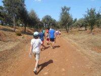 Iniciando la ruta por el campo