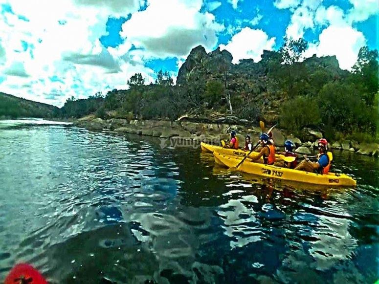 Canoe in family