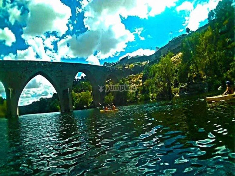 Old bridge in Ledesma