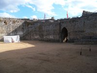 Medieval archery in fortress Ledesma