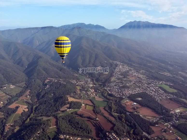 Vuelo en globo en el Montseny