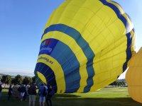 Shared ride on a balloon. Montseny. Barcelona