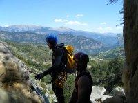 美丽的景色在峡谷下降中
