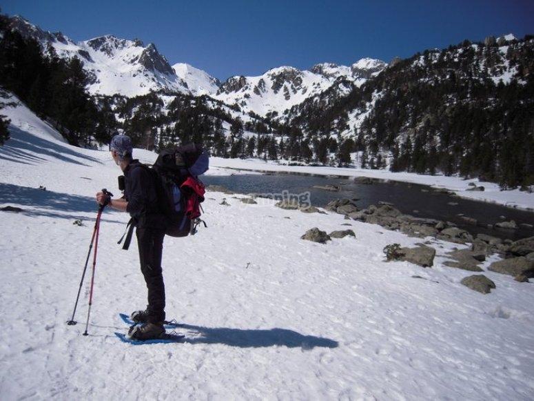 Media montaña invernal
