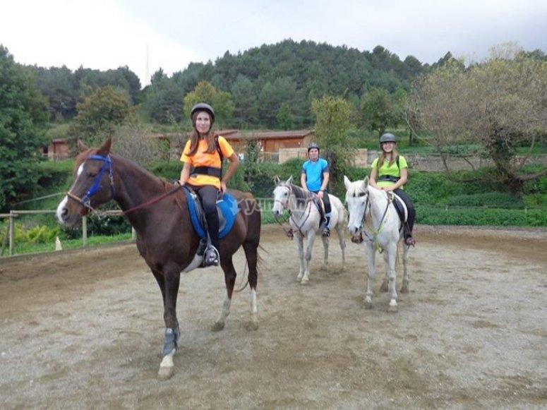 Gente a caballo