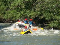 Alcanzando a la canoa