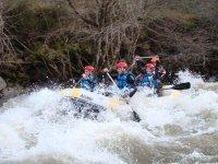 Rafting en rio palentino