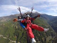 Paragliding flight from Rials 15 min