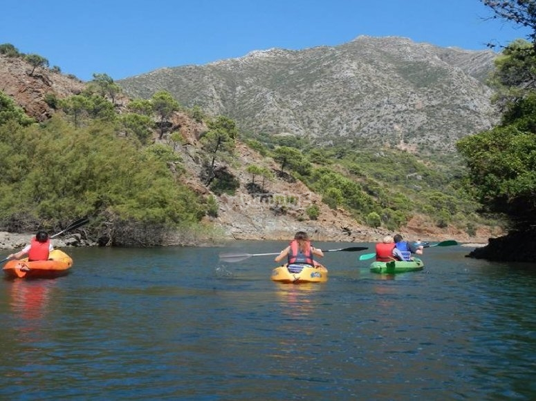 Noleggio kayak per famiglie Marbella