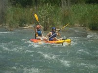 Cofrentes river descent by canoe