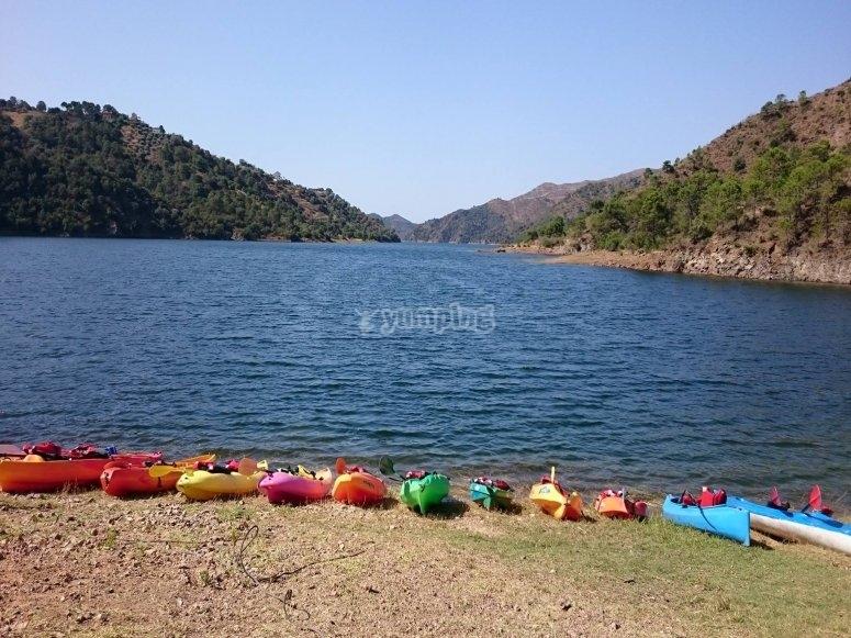 Alquiler kayaks Sierra de las Nieves