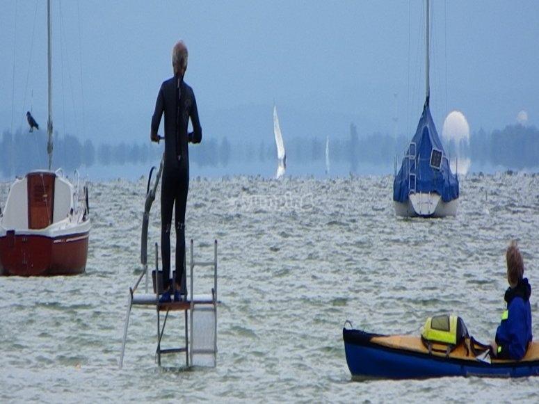 Practicando  Aquaskipper en Marbella