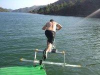 Montado en una Aquaskipper