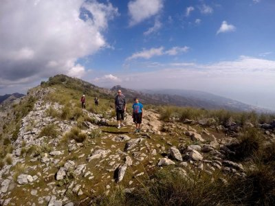 Hiking in groups around Marbella