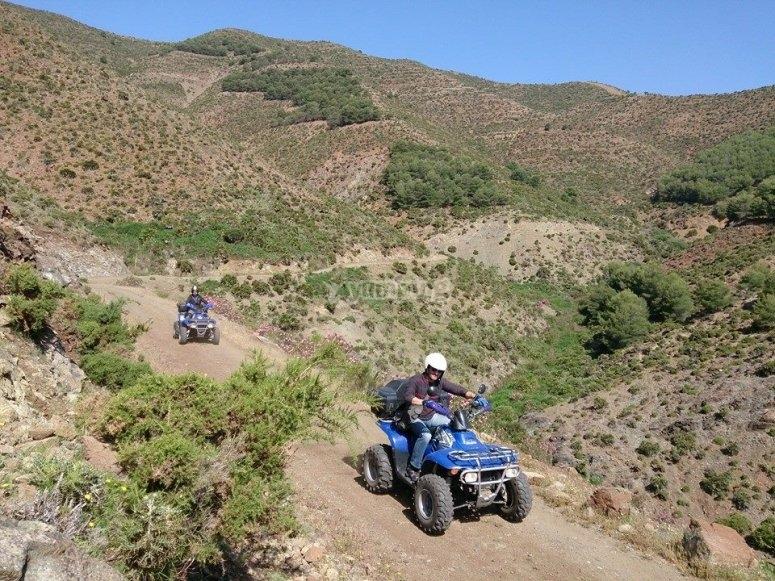 Emocionante ruta en quad sierra Marbella