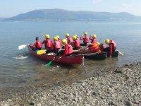 Actividad de grupo con kayak