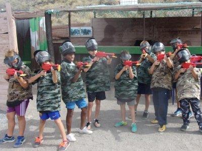 Paintball infantil en Gérgal especial colegios