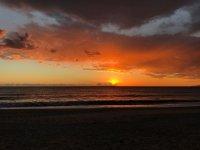 Sunset sun in Cabo de Gata