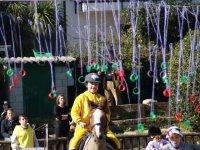 Cogiendo las anillas a caballo