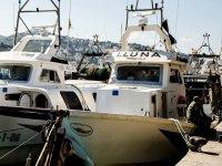 Barco de pesca y ruta