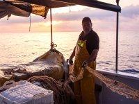 Pescando en el Mar Mediterráneo