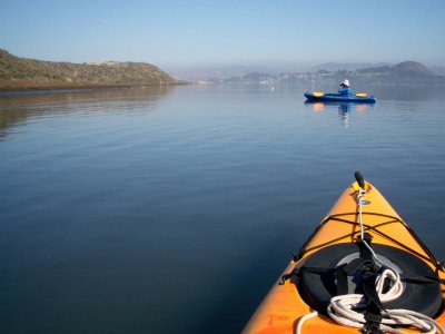 Excursión de piragüismo en Punta Umbría escolares
