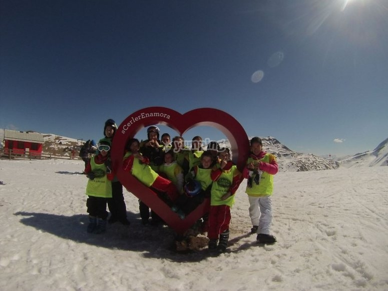 滑雪学校的Perques