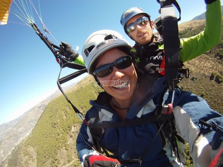 Paraglide with professional pilot