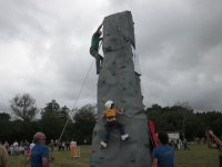 Climbing wall in our facilities
