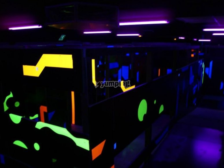 Laberintos con luces