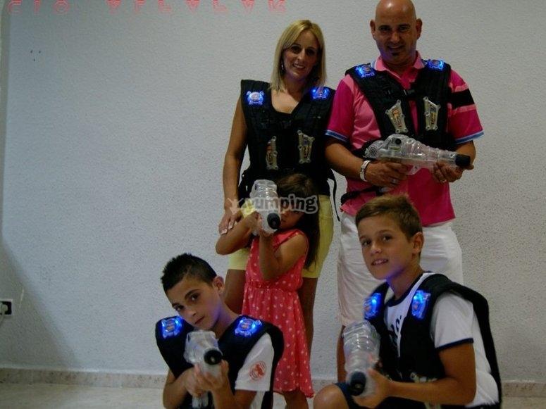 Laser tag en familia