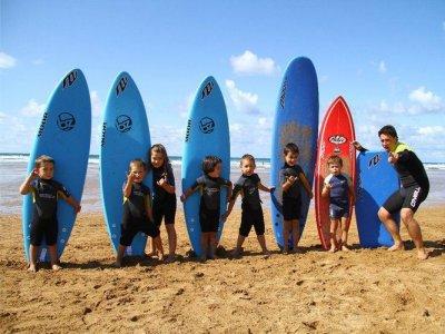 Surf para niños en Zarautz 5 días