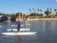 Paddle surfing in the Guadalquivir
