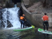 Sup boards in the waterfall