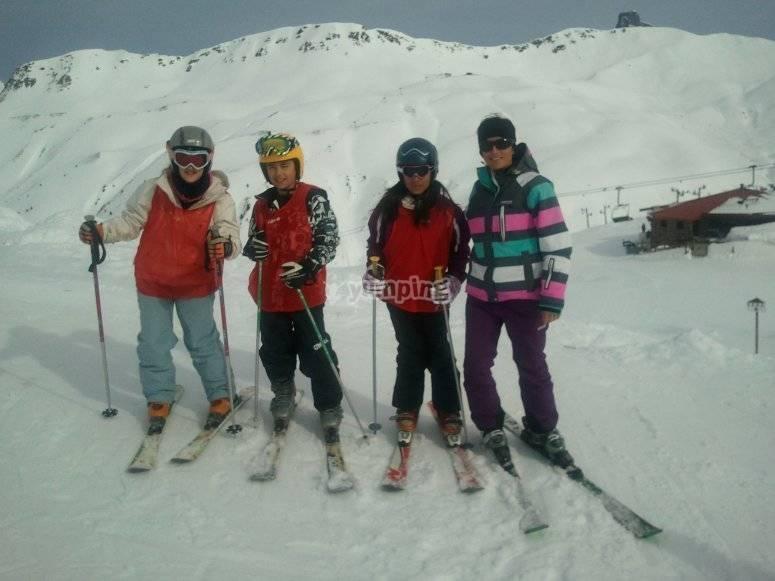 Skiing classes