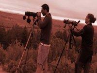 Observando la naturaleza con dos camaras fotograficas